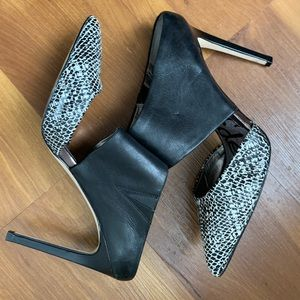 Sam Edelman Black and White High Heel Mule